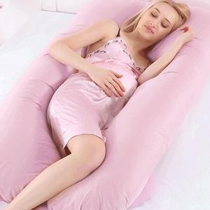 80x160CM European Large U-shaped Maternal Cushion Cover Multi-functional Side Sleeping Cotton Pillowcase