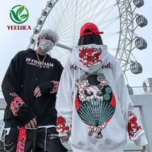 2019 Herfst Winter Japanse Stijl Zanger Taro Bloem Hoodie Mannen Vrouwen Hip Hop Extra Grote Katoen Retro Mode Sweatshirt