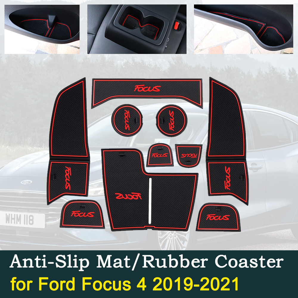 Anti-slip Door Rubber Cup Cushion For Ford Focus 4 IV MK4 2019 2020 2021 ST RS Best Sale Car Mats Interior Accessories Sticker