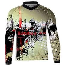 Спортивная одежда для езды на горном велосипеде MTB Enduro Offroad larga, футболка для мотокросса BMX DH MTB