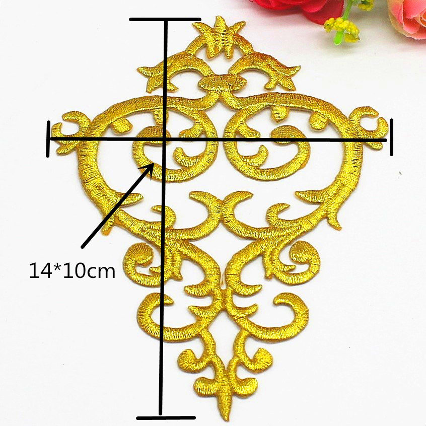 Embroidered applique motif costume patch iron on 12.8 cm*6.5 cm