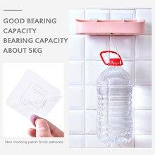 10 pçs transparente forte auto adesivo gancho impermeável sem costura não-traço pendurado gancho para cozinha banheiro escritório atacado