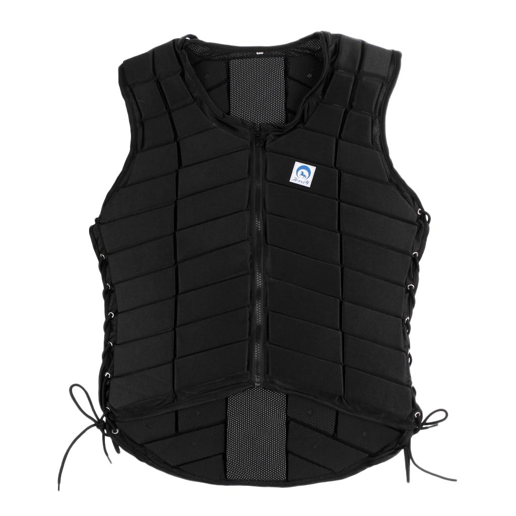 EVA Padded Equestrian Protector Vest & Helmet Safety Cap For Ladies Medium