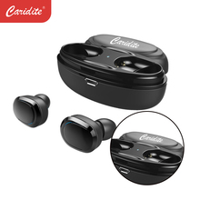 Caridite Popular TWS Wireless Bluetooth Earphone Ture Stereo Bussiness Deep Bass Headset Mini Lovely Gift Sport Earbuds for men