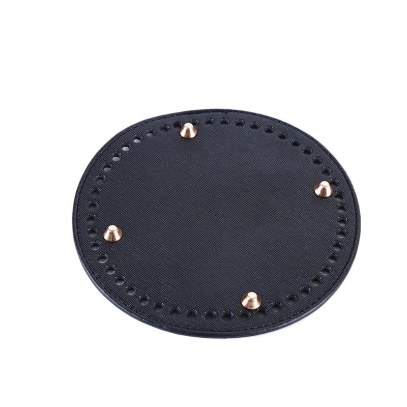 High Qualtiy Round Leather Bottom With Holes Rivet For Handbag Knitting Bag DIY Women Shoulder Crossbody Bags Accessories