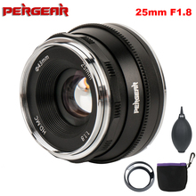 Pergear 25mm F1.8 Prime Lens to All Single Series for E Mount / for M4/3 for Fuji Cameras A6500 A7 A7II A7RII X A2 G3 G2 X T30