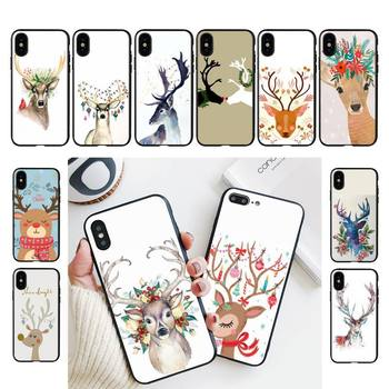 Babette Christmas deer Phone Case For iPhone 11 8 7 6 6S Plus X XS MAX 5 5S se 2020 11 12pro max iphone xr case image