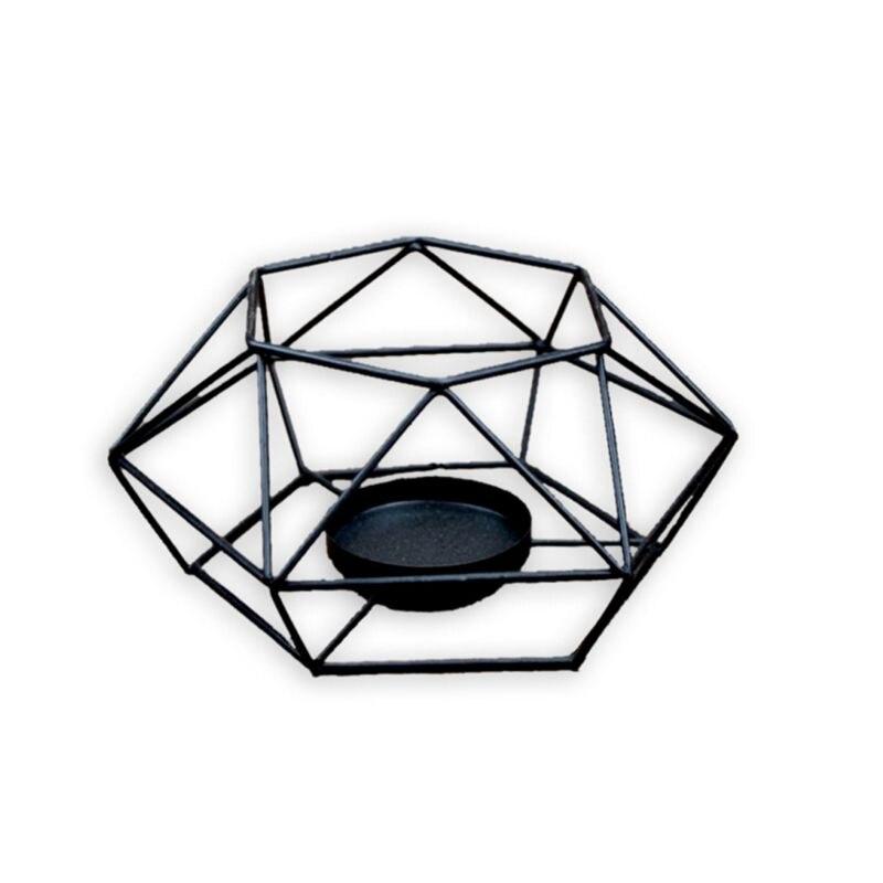 Candelabro de hierro geométrico 3D de estilo americano soporte de vela de Metal para decoraciones del hogar de la boda Impresión geométrica Spandex elástico Slipcovers multifuncional funda de silla Slipcover funda de asiento para Hotel banquete de boda