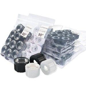 Image 4 - Lot de 10 lentilles PMMA haute puissance avec support, lentilles 1W 3W 5 W LED, 5 8 15 25 30 45 60 90 120 degrés pour perles lumineuses de 1 3 5 watts