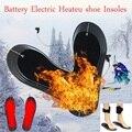 1 пара теплых стелек для обуви из углеродного волокна с электрическим аккумулятором для женщин и мужчин  Зимние Стельки С Подогревом 50 граду...