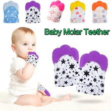 Baby Silicone Infant Gloves Chew-Toy Molar Anti-Bite Food-Grade Toddler D20