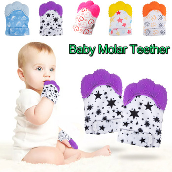цена на Baby Molar Gloves Anti-bite Toddler Chew Toy Baby Teether Food Grade Silicone Teethers Infant Teething Glove D20