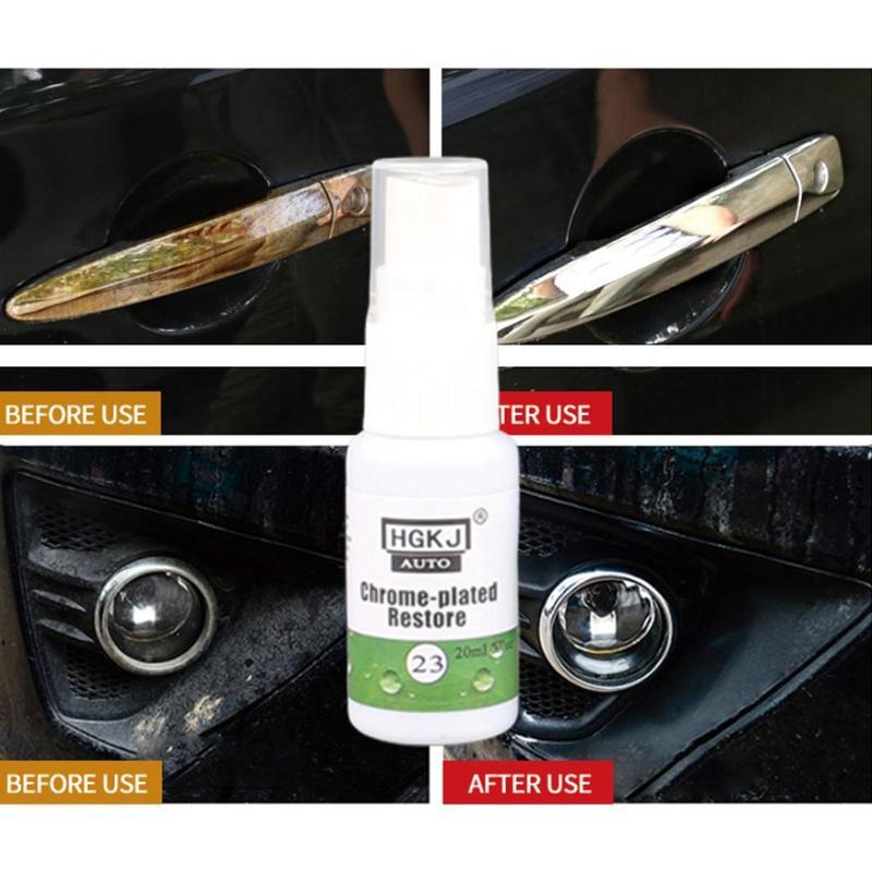 20ML Car Chrome Refurbishment Agent Car Standard Rust Refining Cleaning Agent Rust Inhibitor Rust Remover Dropship