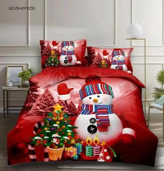 BEST.WENSD American style christmas bedding set Merry Christmas Bedlinens cotton Duvet cover with Pillow cover home bedclothes