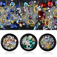 Nail Decorations 3D Multi-shape Rhinestones Sparkling Multicolor Mixed Decoration DIY Manicure Pasting on Nails Tips multicolor mixed nail french sticker 3d nail sticker diy tips beauty french manicure stickers for nails decal 30sheet