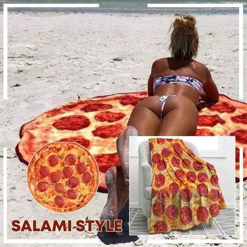 Funy PizzaHolic suave manta de franela loco Burrito Wrap manta perfectamente redonda conveniente hogar diario necesidades nuevas