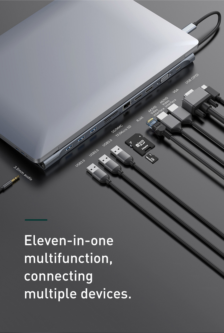 Baseus 11 in 1 Type-C USB-C Hub Adapter 5