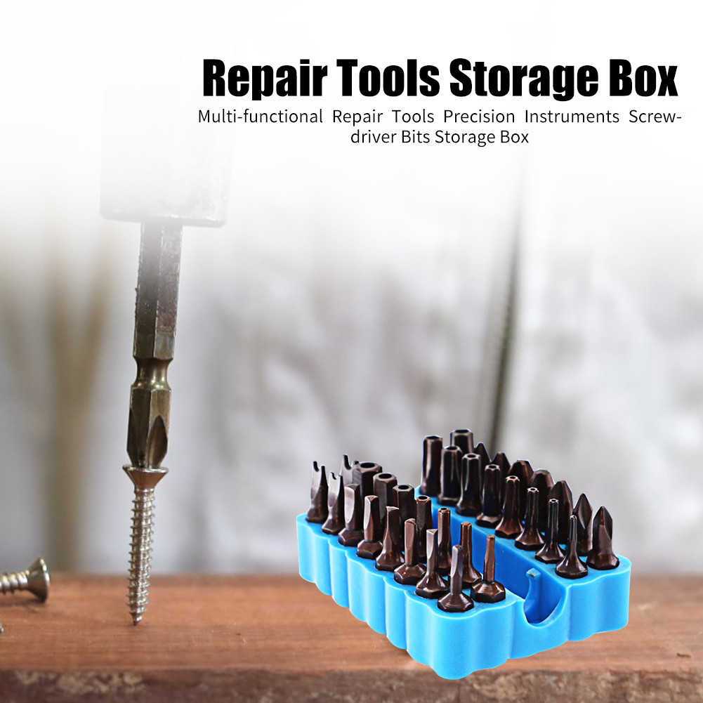 2PCS Multi-functional Screwdriver Wrench Organizer Repair Tools Storage Box Tool Box Screw Bits Plastic Home Accessories