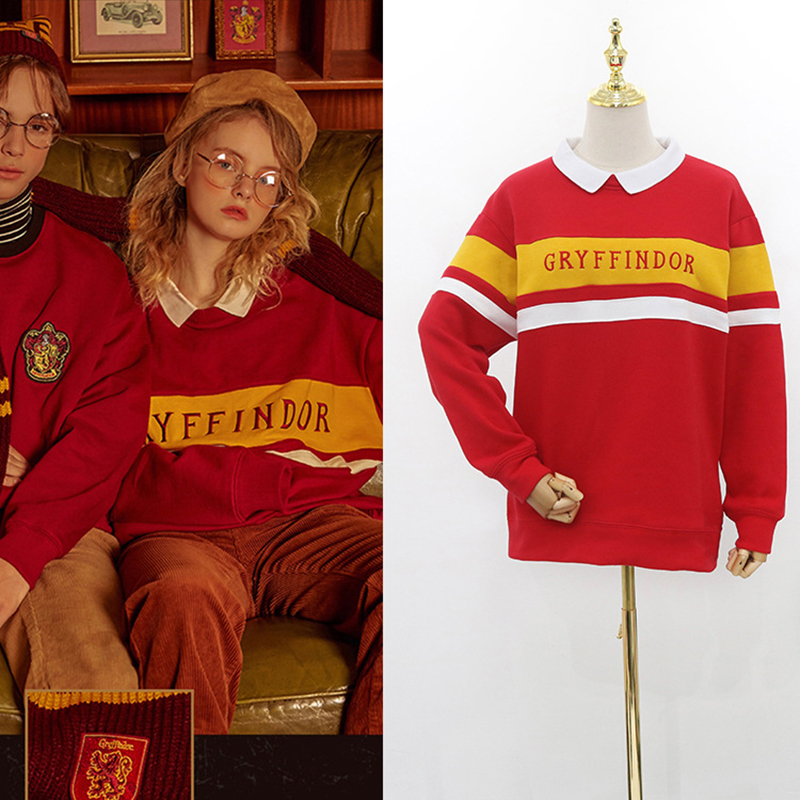 Gryffindor Sweaters Potter Cosplay Couple School Uniform Quidditche Halloween Hogwarts Costume Magic Potter Robe Cape D55A04 image
