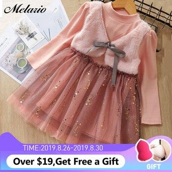 af01b76df843 Moda niñas vestido 2019 nuevos vestidos de invierno niños ropa ...