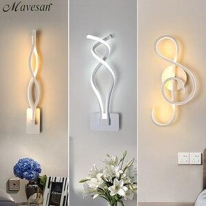 Image 1 - LED duvar lambası Modern duvar lambası yatak odası başucu okuma kapalı duvar lambaları oturma odası koridor otel odası aydınlatma dekorasyon