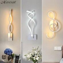 LED מנורת קיר מודרני קיר אור עבור שינה לצד קריאה מקורה קיר מנורות סלון מסדרון מלון חדר תאורת קישוט