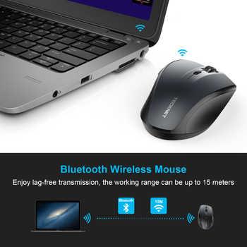 TeckNet Bluetooth Wireless Mouse Ergonomic 2.4GHz Computer Mice 3000/2000/1600/1200/800 DPI for Windows Laptop Notebook PC