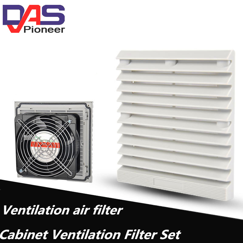 Double Ball Bearing Fan Ventilation Filter Set Grille Louvers Blower Exhaust Ventilation System Fan Filter   With Fan