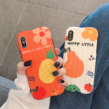 VZD Fashion Curved Suitcase Cute Fruit Pineapple Avocado Pear Mobile Phone Case For Iphone 6 6s 7plus 8plus 10 X Xr Xs Max Cover