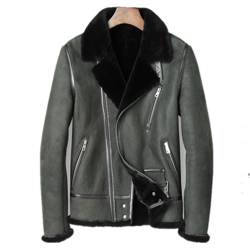 Genuine Leather Jacket Winter Jacket Men Real Sheepskin Coat For Men Natural Wool Fur Warm Coats Plus Size L18-4000 Y1685