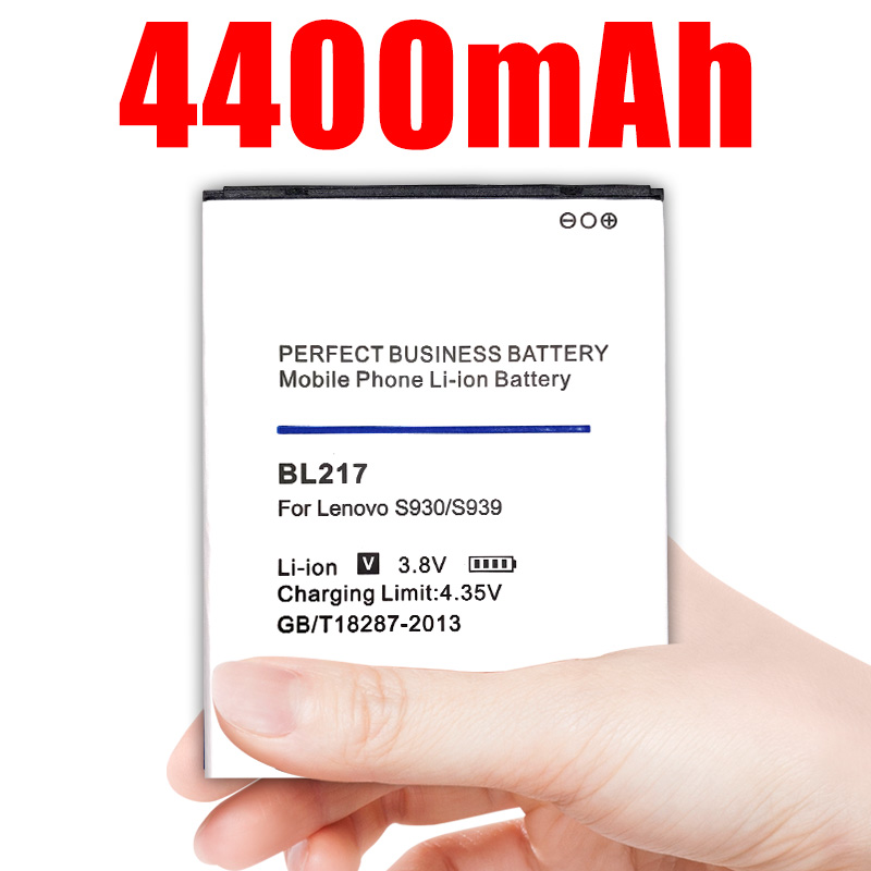 BL-217 BL 217 4400mAh <font><b>Battery</b></font> For <font><b>Lenovo</b></font> <font><b>S930</b></font> S939 S938T BL217 Rechargeable Replacement <font><b>Batteries</b></font> image