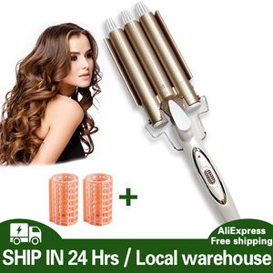 Image 1 - waves Curling hair curler Professional hair care & styling tools Wave Hair styler curling irons Hair crimper krultang iron   5