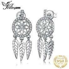 JewelryPalace Bohemian Dream Catcher CZ Drop Earrings 925 Sterling Silver Earrings For Women Korean Earings Fashion Jewelry 2020