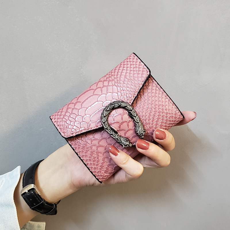 Vintage Women Wallets PU Leather Short Women Purses Hasp Coin Pocket Card Holder Purse High Quality Design Ladies Clutch 2019New