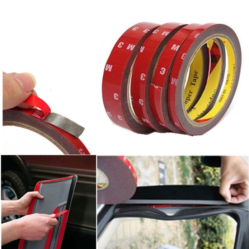 6/10/15/20mm Car Special Double Sided Tape 3M Black Strong Adhesive Tape Sticker For Phone Lcd Pannel Screen Repair Accessories