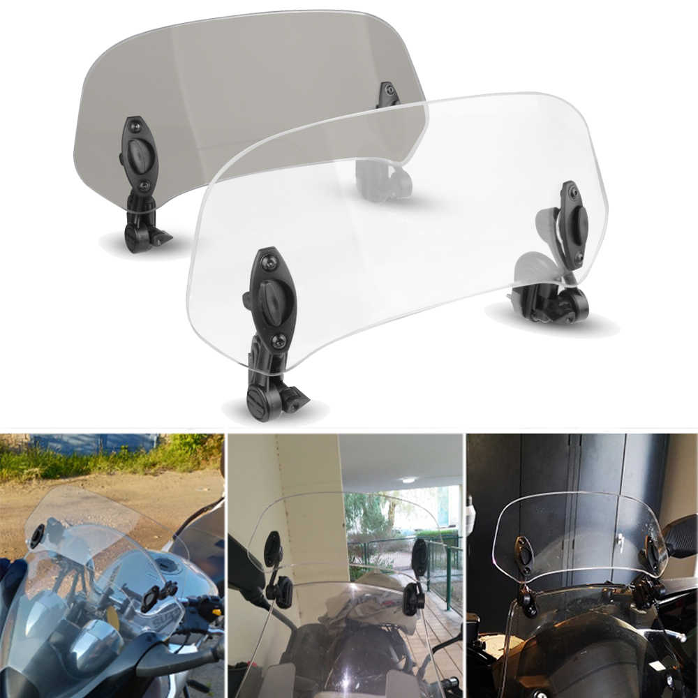 دراجة نارية ارتفع قابل للتعديل الزجاج الأمامي الزجاج الأمامي تمديد عاكس الهواء لكاواساكي النينجا 250r هوندا ستيد cbr1100xx انتصار