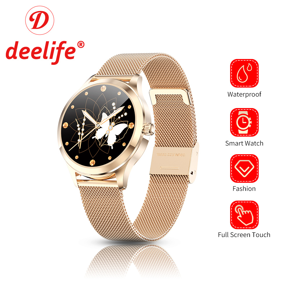 Deelife Woman Smart Watch for Girls Female Ladies Luxury Smartwatch Ip68 Waterproof Connected Watches Android IOS