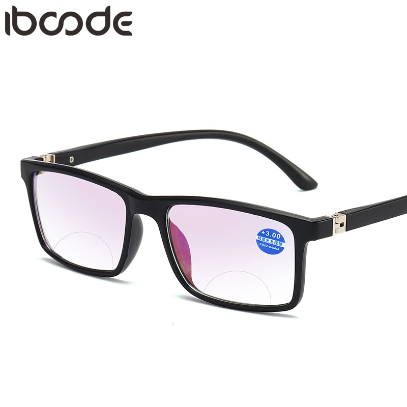 Iboode 2019 Anti Blue Light Reading Glasses Men Women Multifocal Presbyopic Magnifying Eyeglasses Near Far Sight Diopter Eyewear
