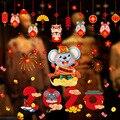 2020 Große Ratte Neue Jahr Dekorationen Glas Aufkleber Neue Jahr Fenster Dekoration Fu Charakter Statische Aufkleber Tür Aufkleber Frühling Fes-in Schalterabdeckungen aus Heim und Garten bei