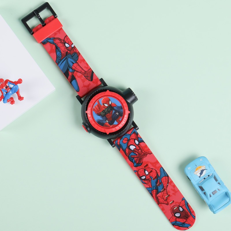 Big Sale Boy Toy Watch Projector Spider Man Super Children Friend Child Digital Watches Kid Gift Party Present Simple Red Rubber