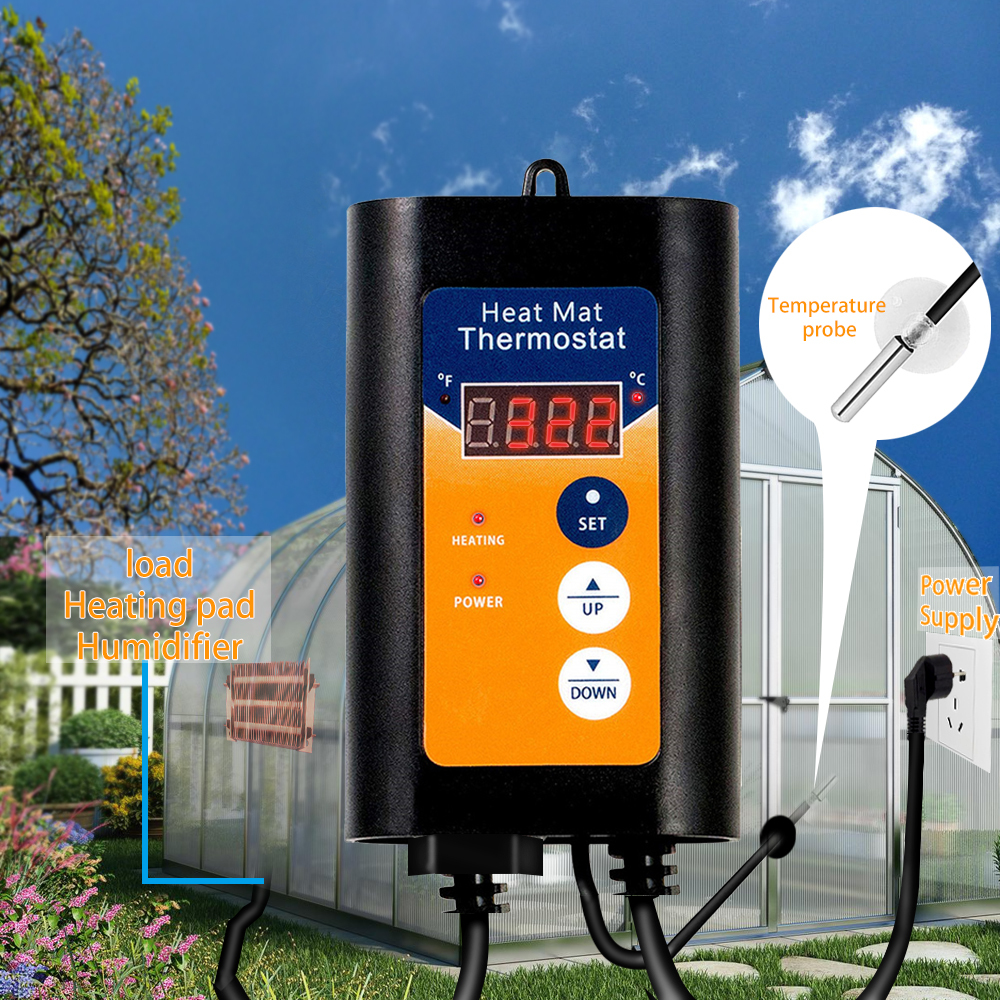 Temperature Controller Plant Greenhouse Digital Temperature Regulator Thermostat Saving Current Smart Temperature Control System
