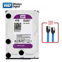 "WD Purple brand 4000GB internal hard disk 3.5"" 64M cache SATA3 HDD 6Gb/s 5400RPM 4TB HD hard disk for desktop computers"
