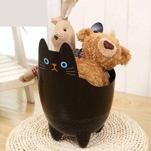 Image 2 - Poubelle créative pour bureau 1 pièce, Mini poubelle pour salon, chambre à coucher, sans couvercle, stockage de chat mignon