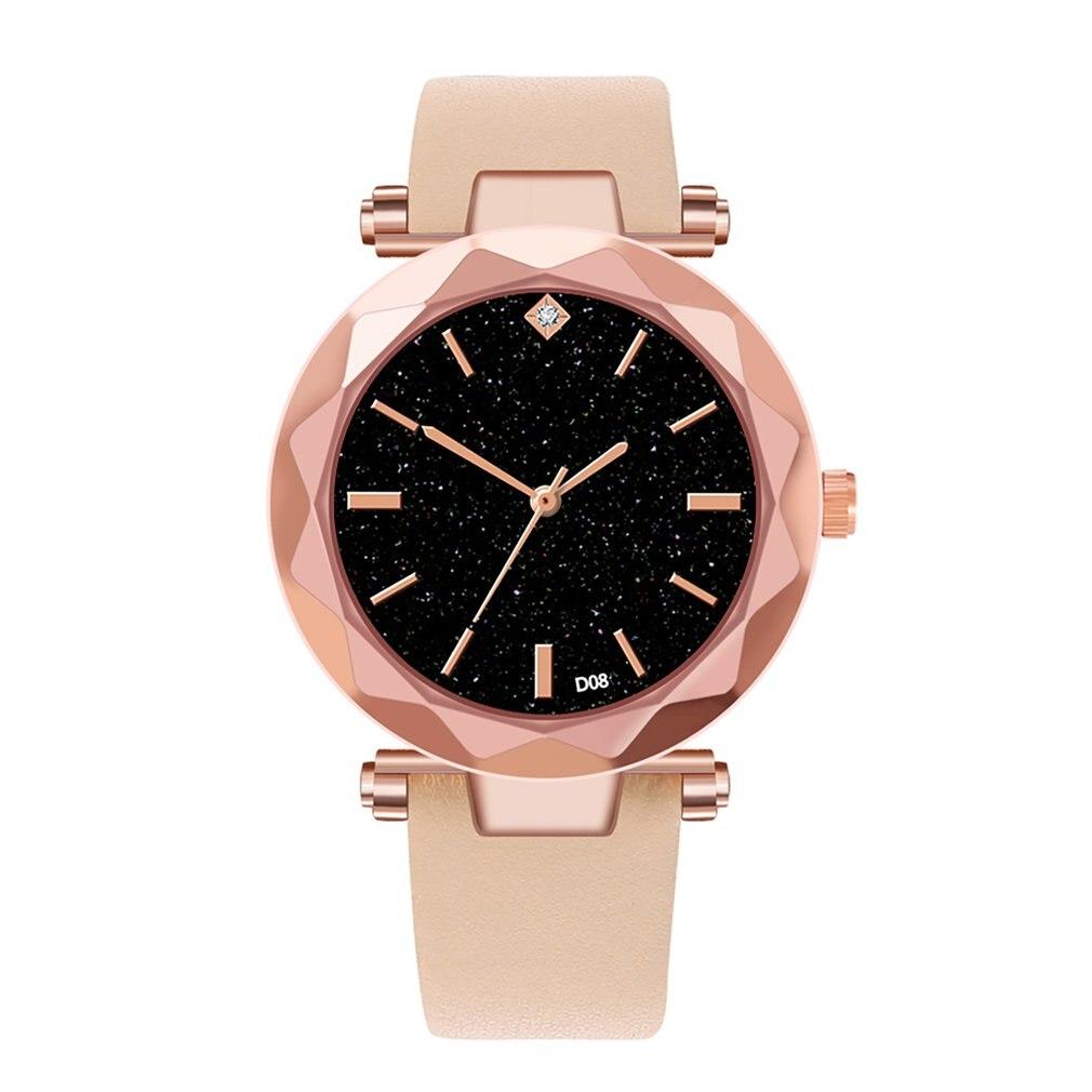 D08-C reloj de cuero PU suave para mujer reloj de pulsera para mujer