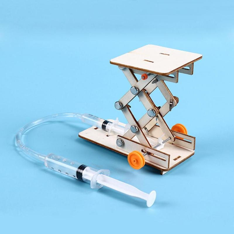 DIY Hydraulic Lift Table Materials Physics School Projects Science Experiment Model Kit Creative Educational Teaching Equipment
