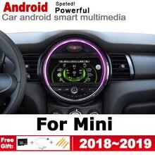 Coche 2 Din reproductor Multimedia Android Auto Radio para Mini Cooper S Hatch 2018 ~ 2019 DVD GPS coche Radio Estéreo navegación GPS