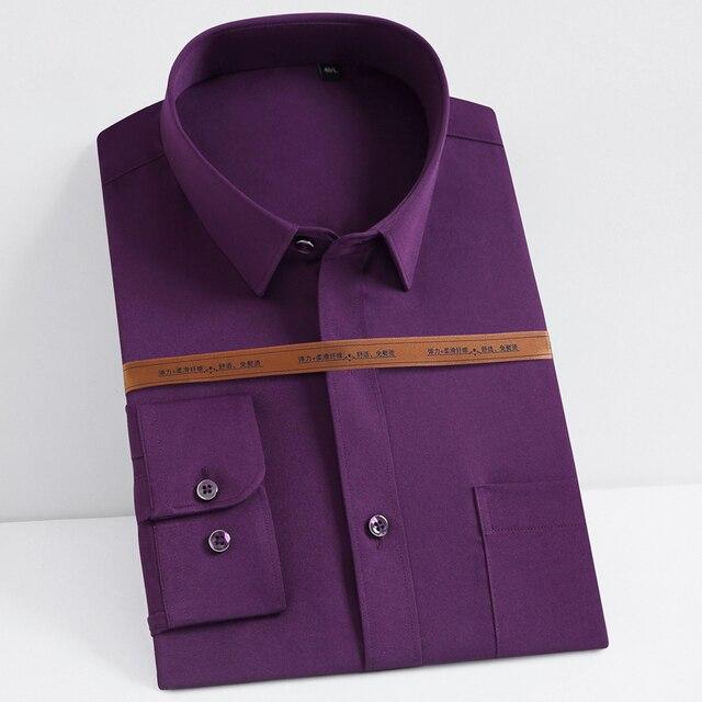 Мужская тонкая рубашка на каждый день с длинным рукавом 1