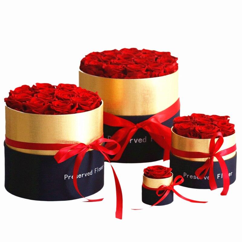 2020 красота и чудовище красная роза вечный цветок подарочная коробка Спящая Роза подарок на день Святого Валентина подарок на день рождения ...