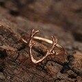 Изящный дизайн, винтажные обручальные кольца с оленями, уникальные кольца с оленем в виде животных, Рождественская бижутерия, подарок для ж...