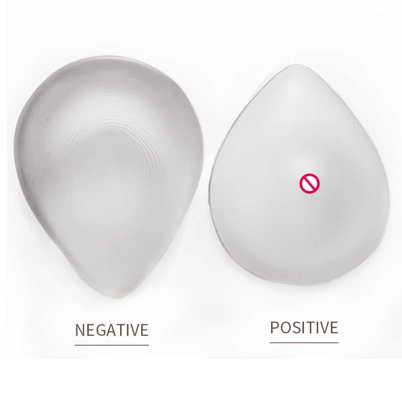 1 쌍의 실리콘 유방 드롭 모양의 cd 드레싱 실리콘 유방 1000g 가짜-여성 가짜 유방 가짜 가슴